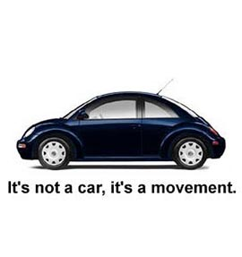 VW spec ad: It's not a car, it's a movement.